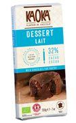 Tablette DESSERT Chocolat au Lait KAOKA