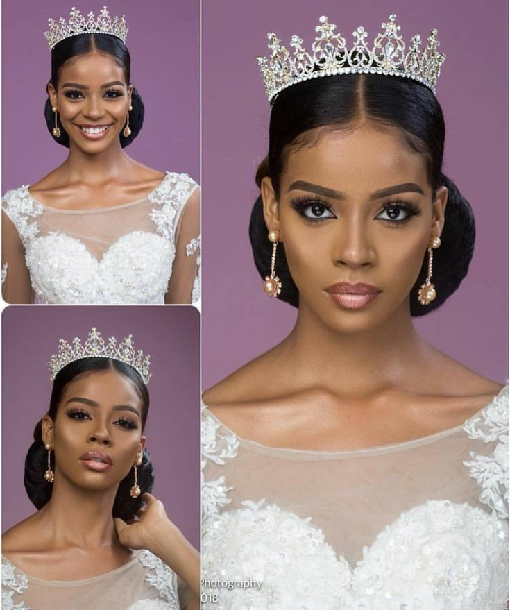 Natural Hair Brides With Crown Wedding Hairstyles In 2020 Natural Hair Bride Natural Wedding Hairstyles African Wedding Hairstyles