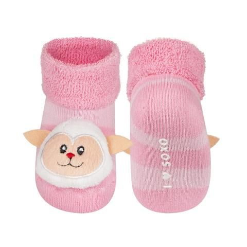 BABY RATTLE SOCKS 'SOXO' SMALL - LAMB    #MamaFashionMe - Aussie Online Store with Beautiful Accessories for Girls + Some for Boys