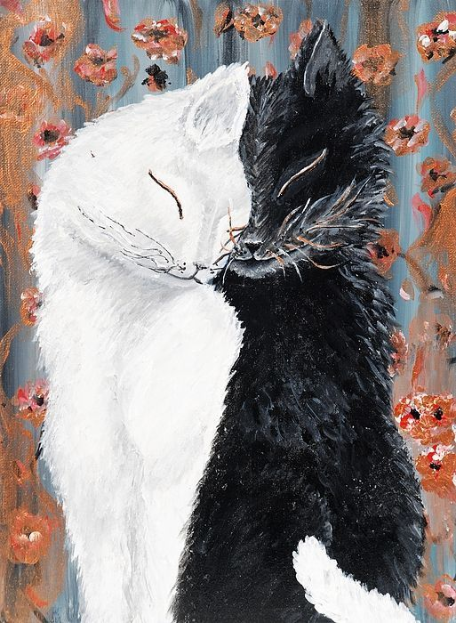 Cats' love - Art Print by Pixels and Fine Art America for