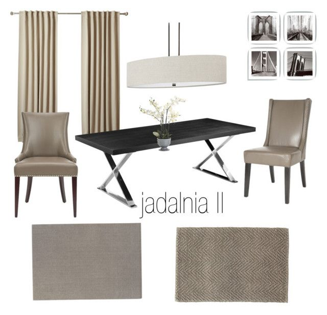 jadalnia by a-filipczak on Polyvore featuring interior, interiors, interior design, dom, home decor, interior decorating, Safavieh, Capital Lighting, Dot & Bo and Dash & Albert
