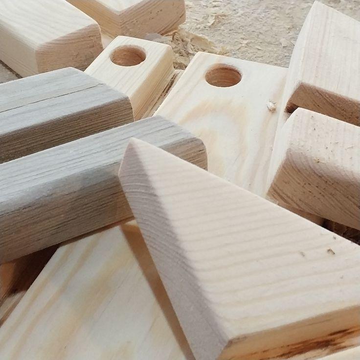 Business card holders, DIY, pine wood, natural wood