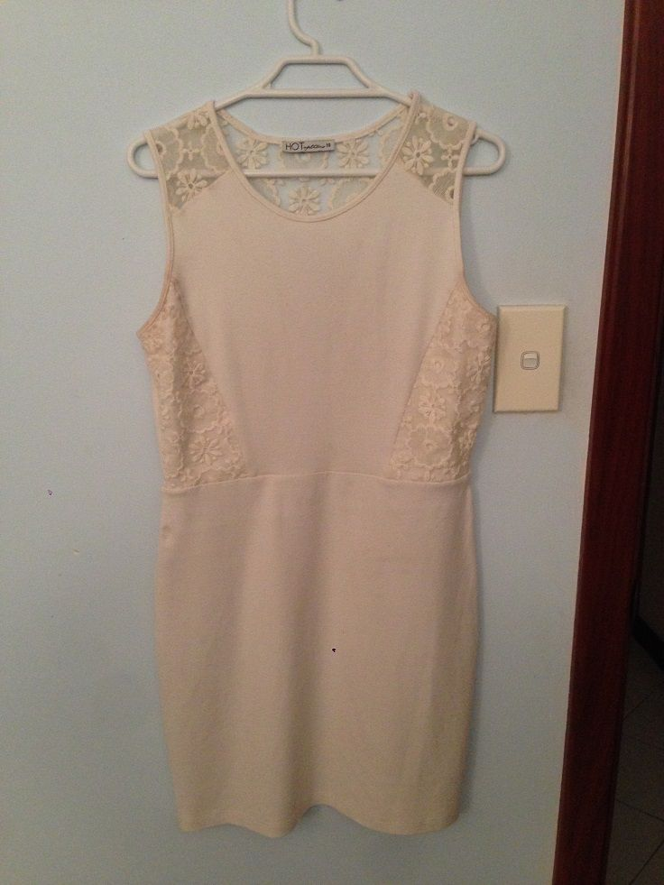 What I Like: same as black warm dress but in white, nice lacey detail, nice length, warm, nice fit ## What I Dislike: shows through tights/underwear/bra pattern, shows bumps, starting to look worn/pill ## Conclusion: keep for now, possibly replace with similar