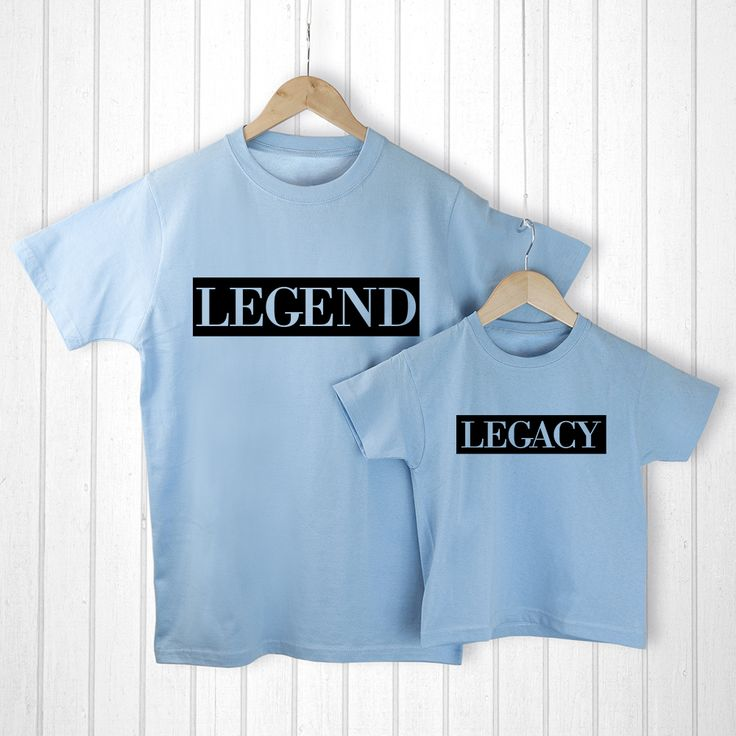 Personalised Daddy Gifts - Comical Matching T-Shirt Set