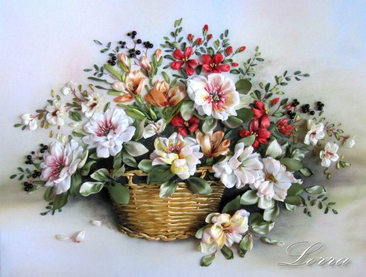 Best silk ribbon flowers images on pinterest