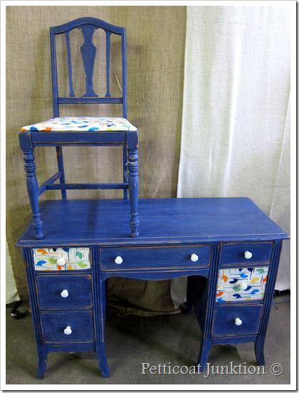 Kid's Decoupage Desk by Petticoat Junktion