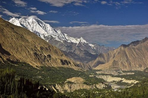 Rakaposhi and the Hunza Valley, Pakistan: Photo Art