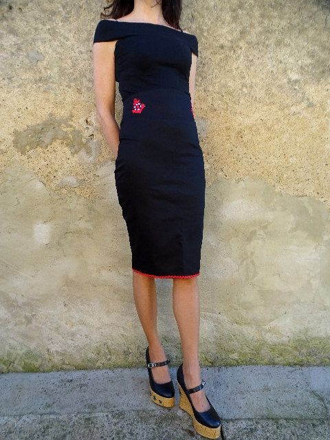 Potlood rok hoge taille anchortikis malaho schedels rockabilly