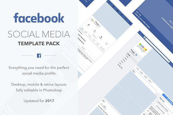 Facebook Social Media Template Pack by Poego on @creativemarket