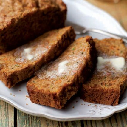 Carrot-Zucchini Bread with Candied Ginger