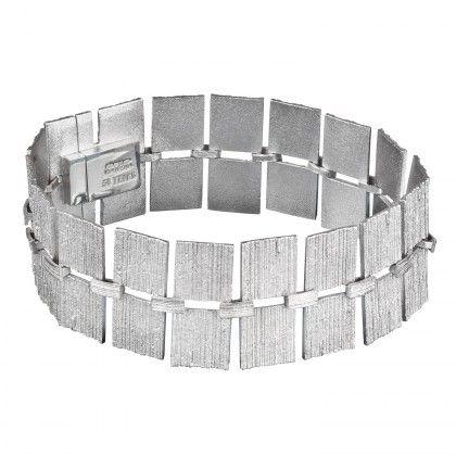 Quadro Bracelet 750 /00 WHITE GOLD / Design: Björn Weckström / LAPPONIA JEWELRY / Handmade in Helsinki