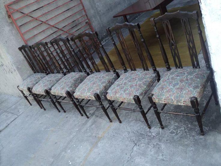 juego de seis sillas estilo ingles