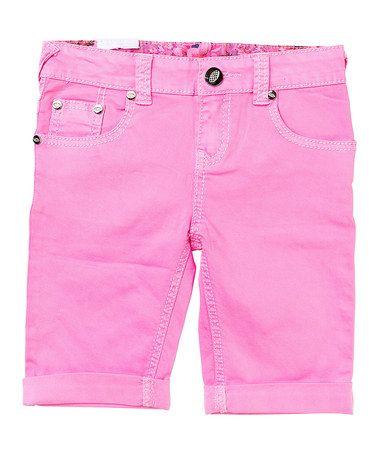 Neon Pink Shorts - Toddler & Girls #zulily #zulilyfinds