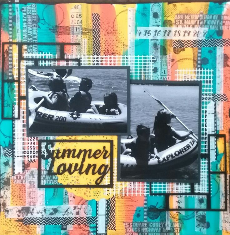 Scrapbooking summer days