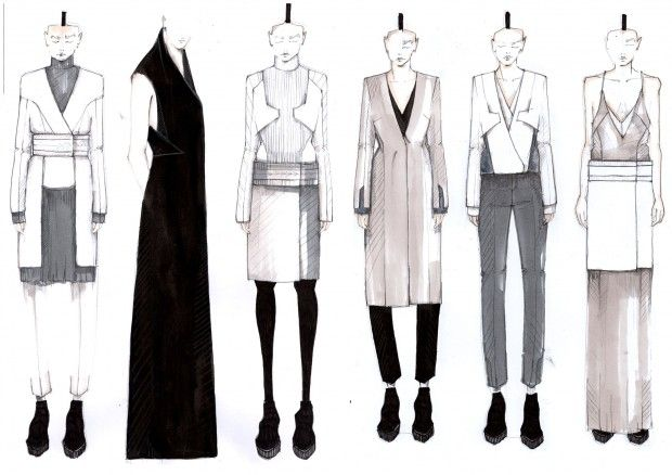 Fashion Sketchbook - fashion design collection line up drawings; fashion illustration; fashion portfolio // Mirjam Maeots