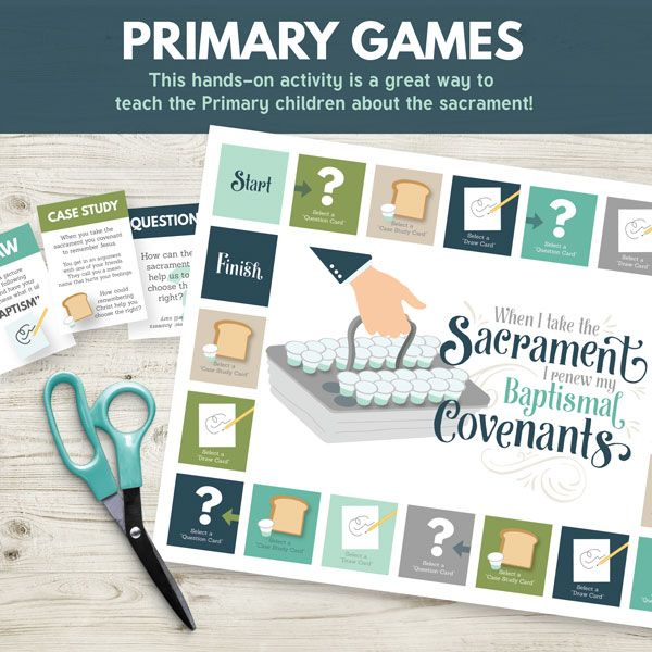 """Primary Games- """"When I Take the Sacrament I Renew My Baptismal Covenants.""""  Perfect for Sharing Time or Family Home Evening"""