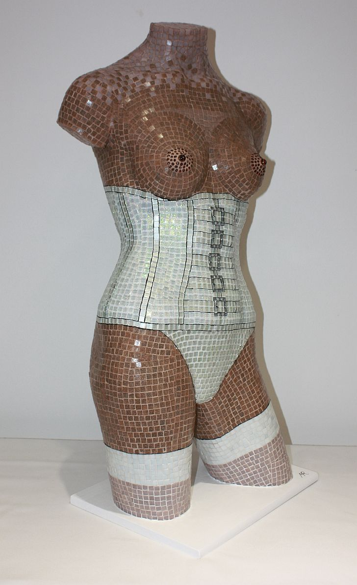 Glass Mosaic 'White Corset'