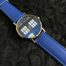 Quartz Watch 2017 Police Box Watch Lady Casual Blue Women Clock reloj dama Montre dames horloge