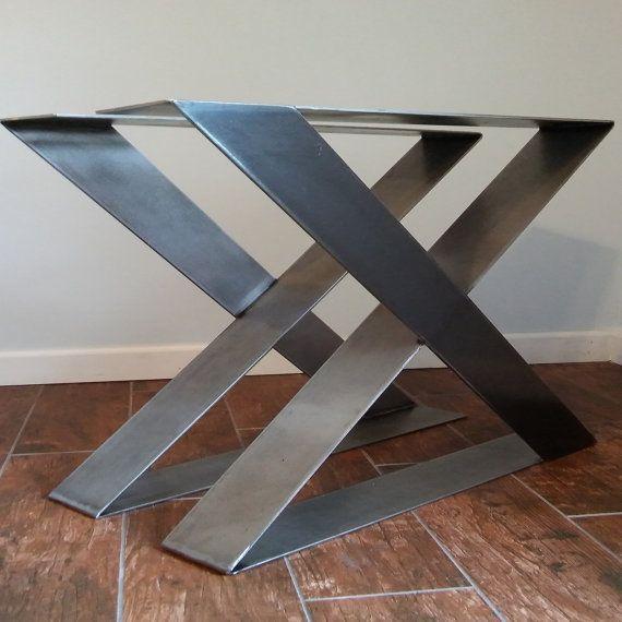 Mesa de acero en forma de Z las piernas las piernas de la mesa fuerte y robusta (juego de 2)
