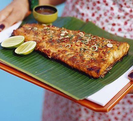 BBQ tamarind salmon with lemongrass, chilli & ginger recipe - Recipes - BBC Good Food