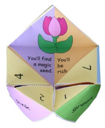 Spring Origami Fortune Teller