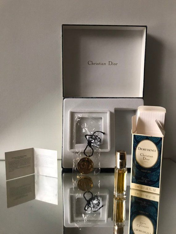 Dioressence Parfum And Gold Plated Cd Rechargeable Pendant Giftbox