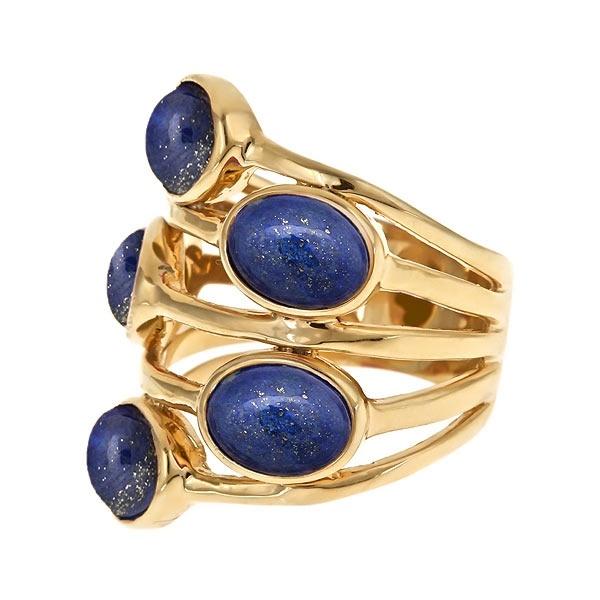 Blue Lapis Gypsy Multi Stone Ring - ISHARYA