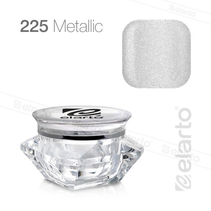 Żel kolorowy Extreme Color Gel nr 225 - srebrny (metalik) 5g #elarto #żel #kolorowy #srebrny #metalik