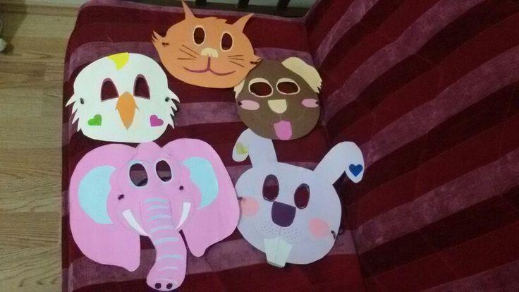 #Teaching #animals with #masks.  Hayvanları maskelerle öğretmek. :)