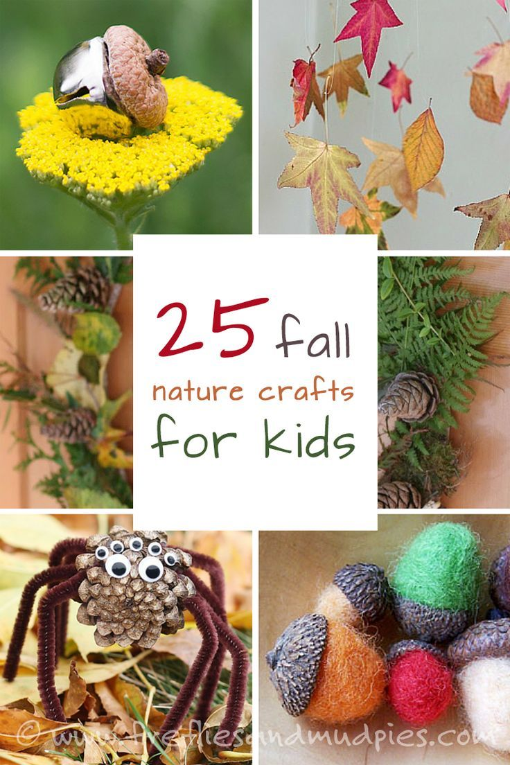 Craft with nature! It's frugal and fun! Here are 25 of the best fall nature crafts for kids! | Fireflies and Mud Pies