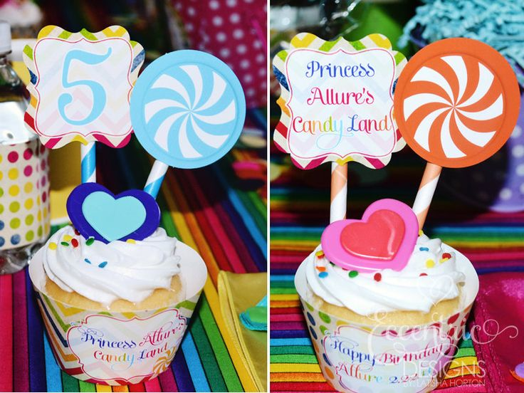 Candyland Birthday Party   Cupcake Toppers And Cupcake Wrappers / Candyland  Party / Candyland Party Theme