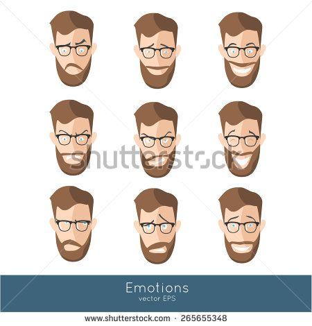 Facial Expressions Stock Vectors & Vector Clip Art   Shutterstock