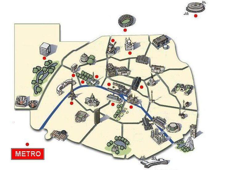 Carte interactive des monuments de Paris