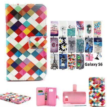 Galaxy S6 / G920 Case, DEENOR PU Leather Wallet Stand: Amazon.co.uk: Electronics