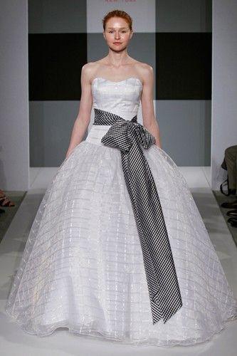 Isaac Mizrahi Gingham Wedding Gown