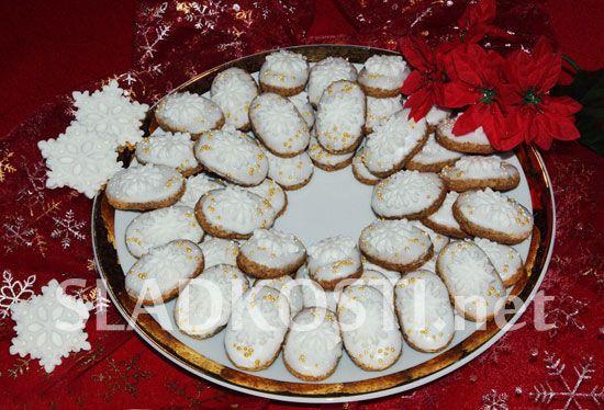 Ořechové oválky s citrónovou polevou
