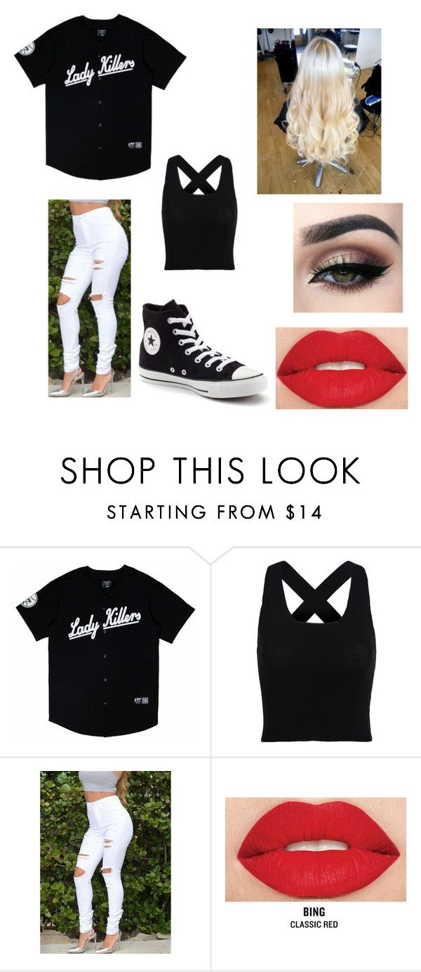 """G Eazy concert"" by music-228 ❤ liked on Polyvore featuring Smashbox and Converse"