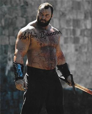 Hafþór Júlíus Björnsson signed 8x10 Game of Thrones actor 'The Mountain'