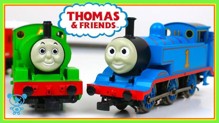 Trains for children Thomas and friends Trains - Märklin Thomas vs Percy ...