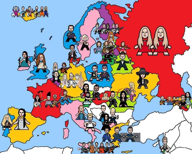 Ben Morris has created this fantastic map of all the contestants of the 2014 Eurovision Song Contest. Check out more illustrations of his Mini Pop Icons!