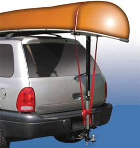 #didyouknow, if you have a hitch, you're ready to load your canoe.  This trailer hitch accessory makes it easy for you to hit the water while protecting your canoe. http://www.uhaul.com/MovingSupplies/Hitch-accessories/Hitch-mounted-accessories/Universal-One-Man-Canoe-Loader?id=5837#