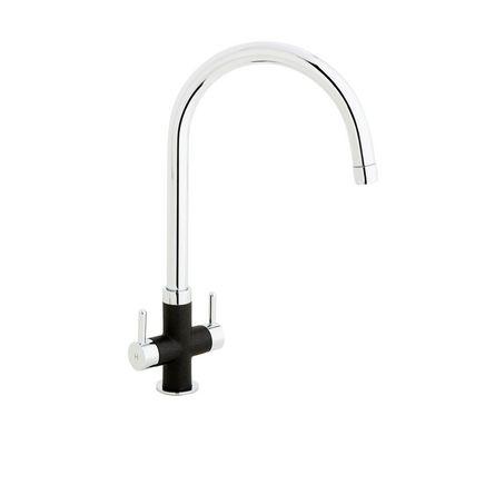 Lamona Black Calaggio swan neck monobloc tap