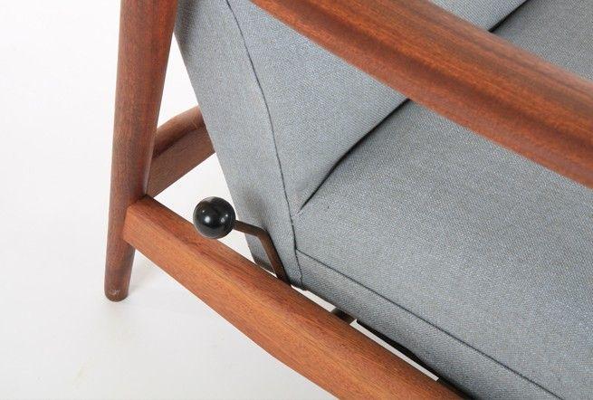 Danske Mobler 'Rock n Rest' Chairs + One Ottoman - Mr. Bigglesworthy Designer Vintage Furniture Gallery