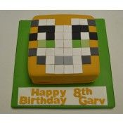 Minecraft Stampy Face Cake