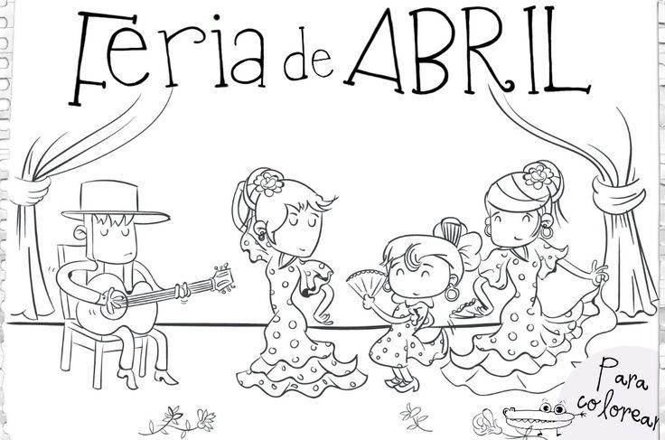 #Dibujos de la #FeriadeAbril  para colorear con los peques