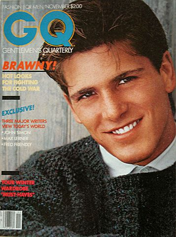 """Michael Schoeffling on the cover of GQ, November 1981. You may know him better as """"Jake Ryan""""."""