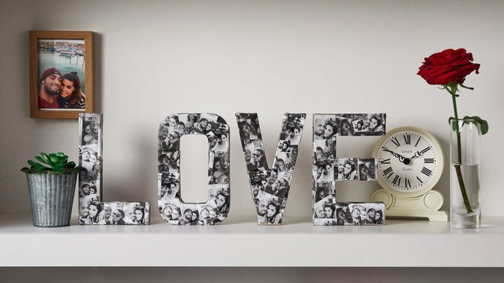 Image of LOVE photo collage | how to make a photo collage love sign | Tesco Living
