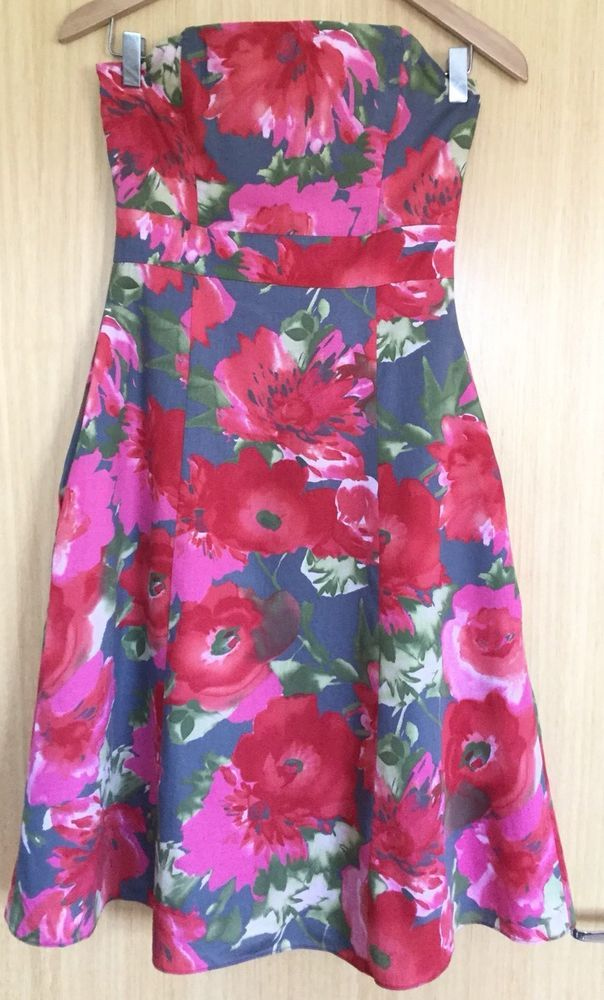 0a2922577c75 Laura Ashley Ladies Dress 8 Summer Strapless Occasion Wedding Races Floral   fashion  clothing  shoes  accessories  womensclothing  dresses (ebay link)