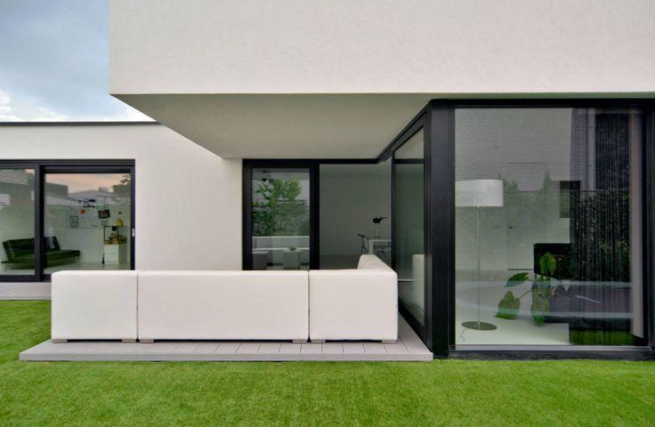 17 beste idee n over modern huis exterieur op pinterest moderne gevels moderne huizen - Landscaping modern huis ...