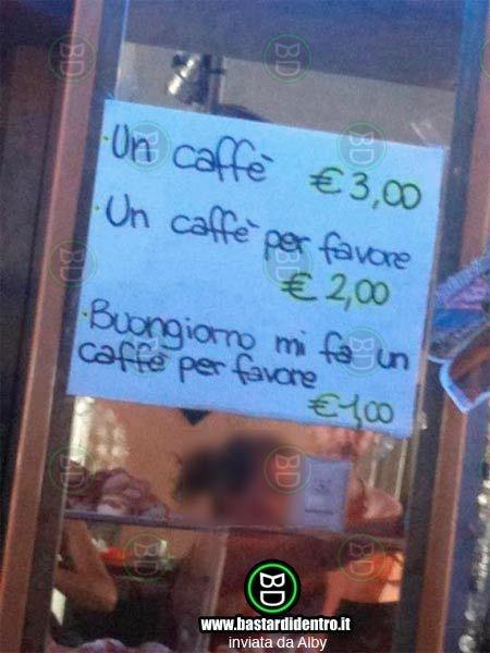 Caffè con educazione - bastardidentro